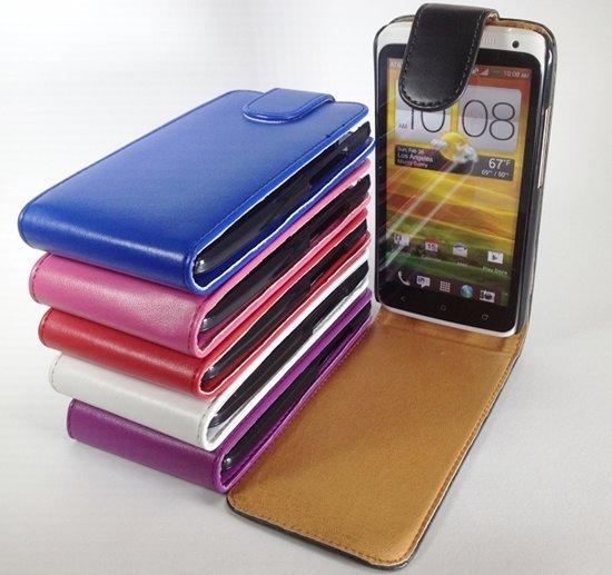 6in1 Set Pakket Faux Hoesjes voor HTC One X