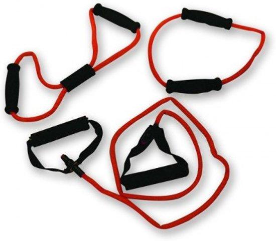 RS Sports - Tubing set l Expander l Weerstandsband - 3 stuks - light - rood