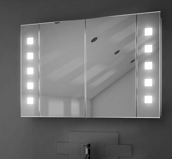 bol.com | Badkamer spiegelkast met verwarming en verlichting 90 x 60 cm