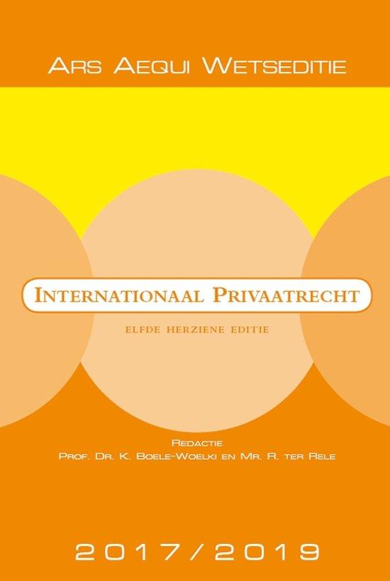 Boek cover Ars Aequi Wetseditie - Internationaal privaatrecht 2017/2019 van  (Paperback)