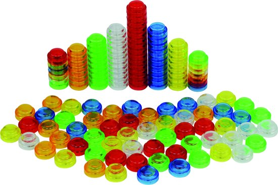 Afbeelding van het spel 500 stapelbare telblokjes - transparant