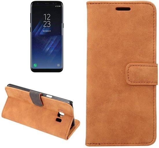 GSMWise - Samsung Galaxy S8 - PU Lederen Retro Stijl Portemonnee Hoesje met Kaarthouder - Bruin in Borger