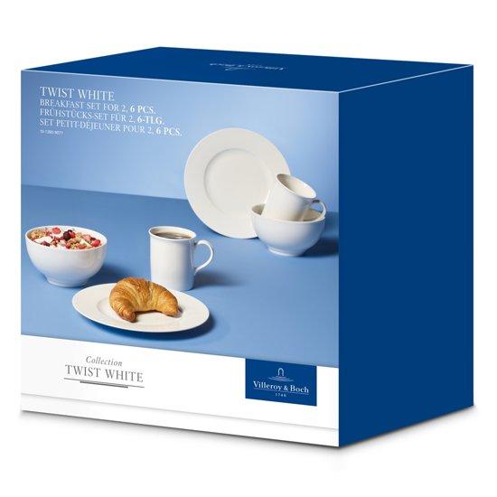 Villeroy & Boch Twist White Breakfast Serviesset 6-delig