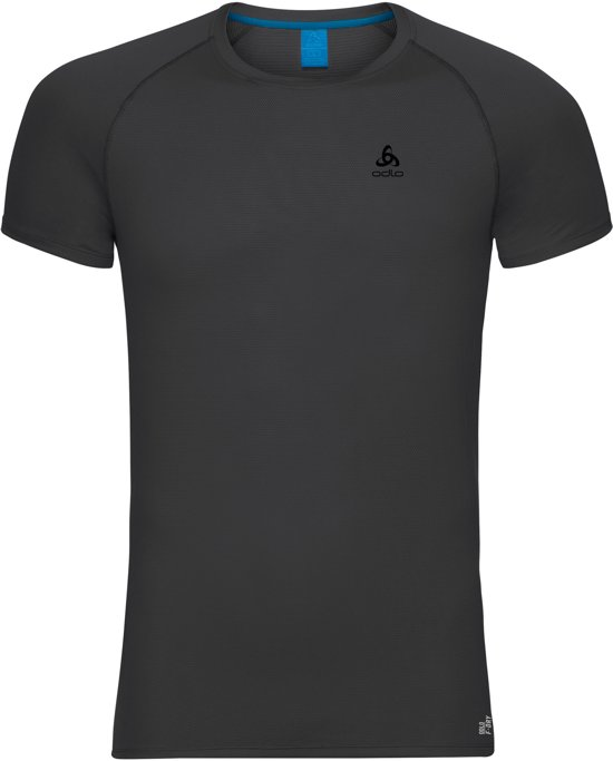 Odlo Active F-Dry Lightsuw Top Crew Neck Ss Sportshirt Heren - Black