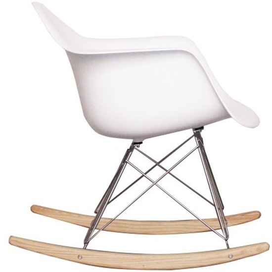 RAR replica Schommelstoel wit | Rocking Chair