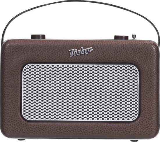 Nikkei NPR200BN Vintage draagbare radio met Aux-in