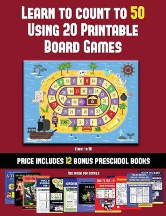 Count to 50 (Learn to Count to 50 Using 20 Printable Board Games)