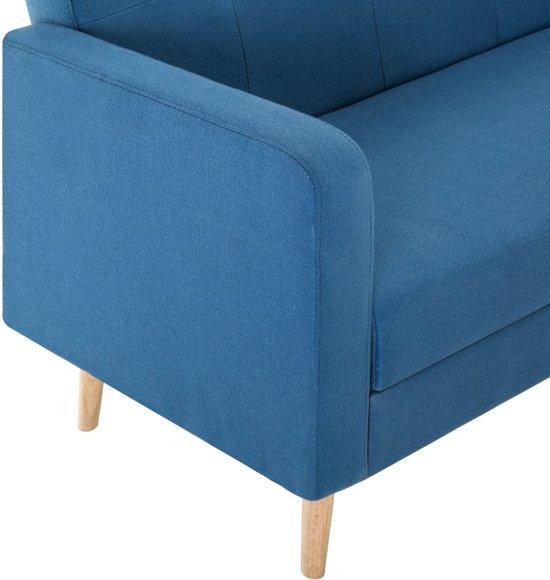vidaXL Bank stof blauw