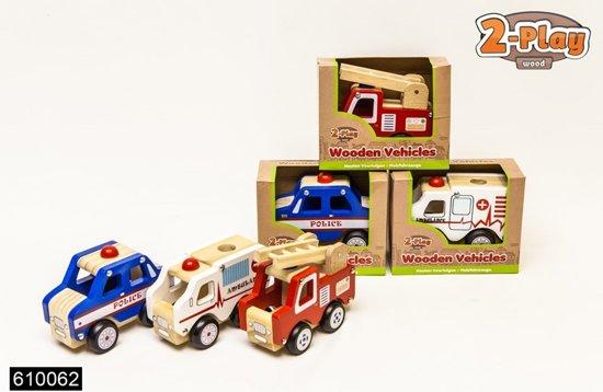 Houten hulpverleningsvoertuig - Ambulance, brandweer of politie
