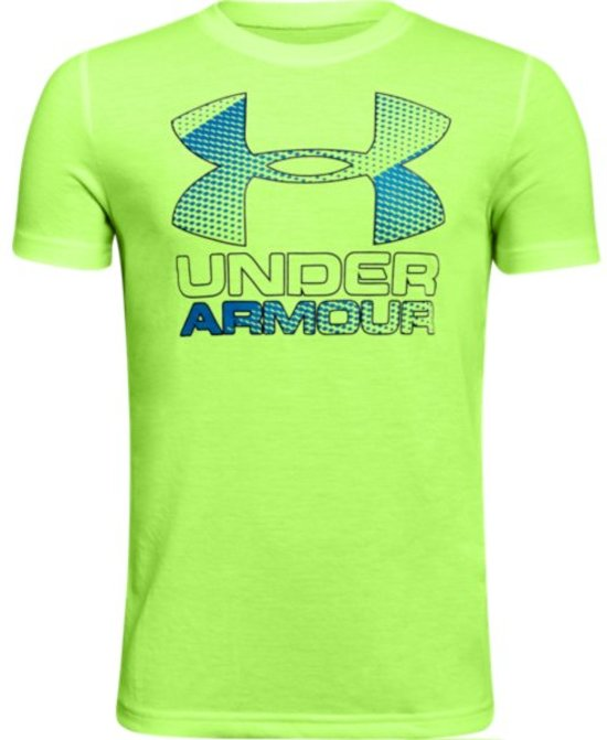Under Armour Big Logo Hybrid 2.0 SS T Sportshirt  - Kids - Maat 164 - Quirky Lime
