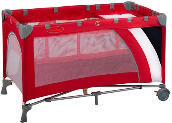 Campingbed Baninni Nido Luxe Stripes Red (incl. bodemverhoger)