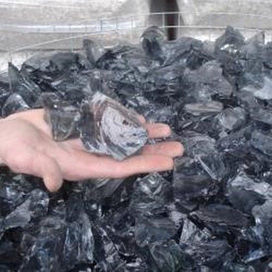 Glas Zwart - Groothandel Partij Stenen/Stukken van 0,5 tot 4kg - Topkwaliteit - 100KG