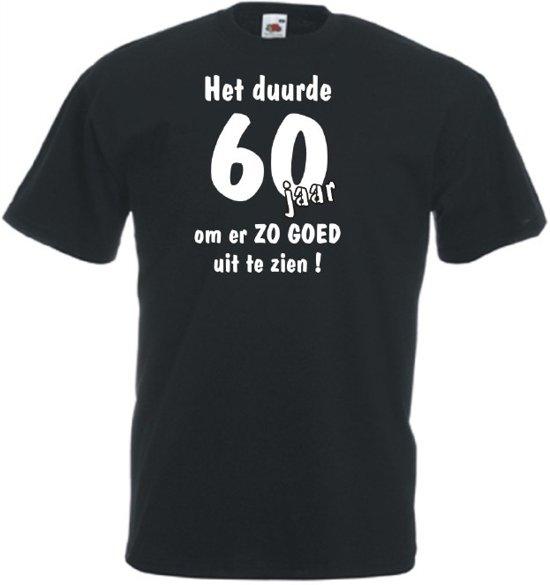 Mijncadeautje Unisex T-shirt zwart (maat M)  Het duurde 60 jaar om er zo goed uit te zien