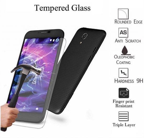 Tempered Glass Protector geschikt voor Vodafone Smart Mini 7 , transparant , merk i12Cover in Roloux