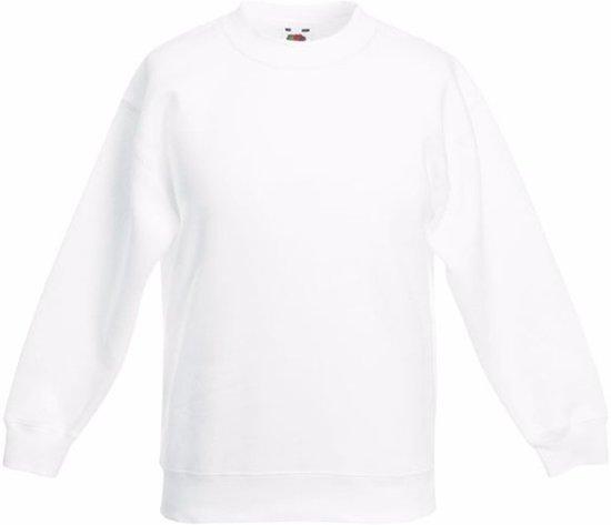 Witte katoenmix sweater voor jongens 12-13 jaar (152/164)