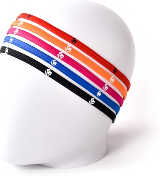 Brabo 5mm - Haarbandjes - One size - Oranje