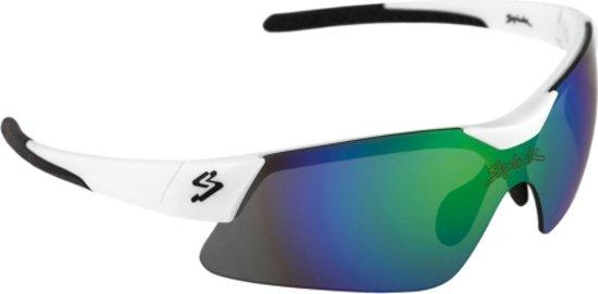 10b25ef2a6a370 Spiuk Mamba - Sportbril - Blauwe lens - Lenscat. 2 - Wit zwart