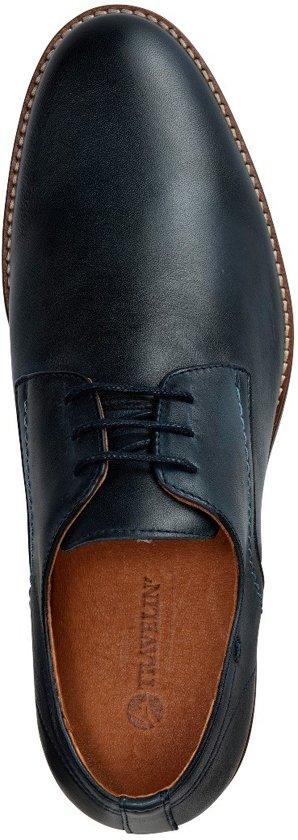 Veterschoenen Leather Travelin Maat Donkerblauw 43 Leren Manchester q5qrwft