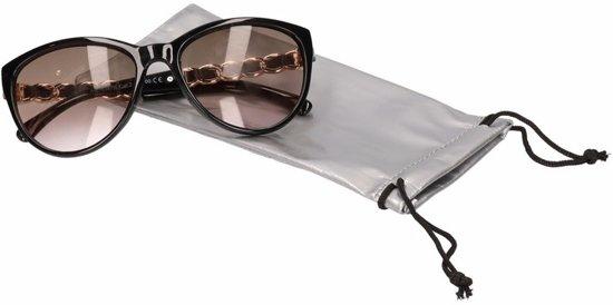Etui voor zonnebril - zilverkleurig - exclusief zonnebril