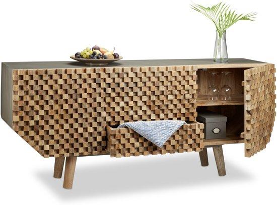 Bol.com native home dressoir hout 75 x 177 x 45 cm sideboard