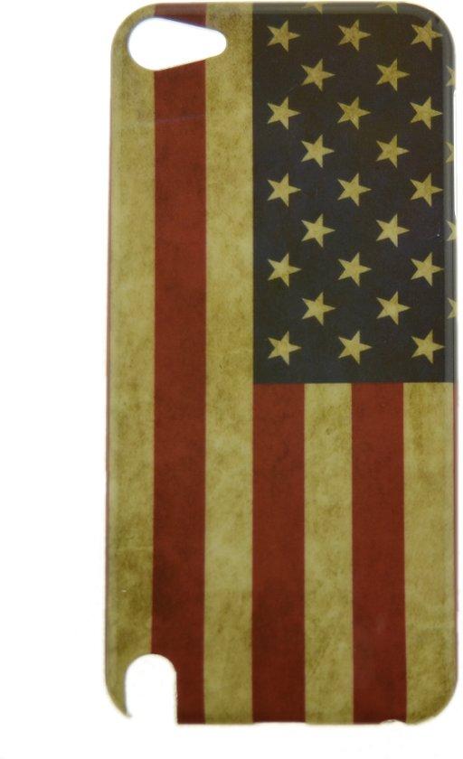 Ipod Touch 5 / 6 Hoesje Amerikaanse Vlag Retro - Jongen - Hardcase