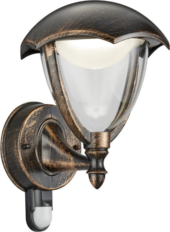 Trio Leuchten WL Cappe - Wandlamp - 1 lichts - D 200 mm - roestbruin