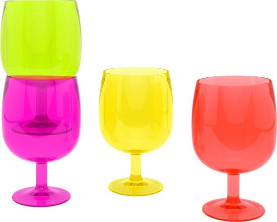 Zak!Designs Stacky Stem Waterglas - 25 cl - Multicolor - Set van 4 stuks