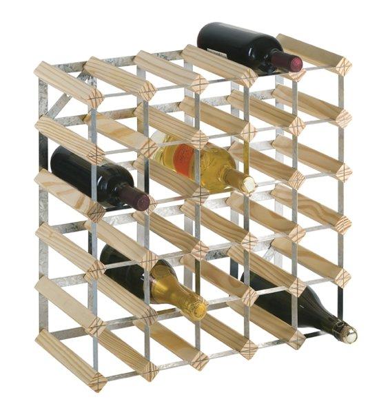 Genoeg bol.com | Wijnrek blank hout 30 flessen #KV55