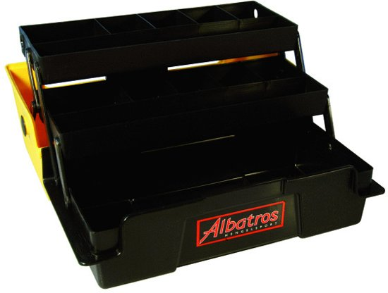 Albatros Viskoffer - Met 2 Laden - 31 x 16 x 15 cm - Geel
