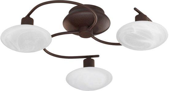 Woonexpress Bollen - Plafondlamp - 3 Lichts - Bruin