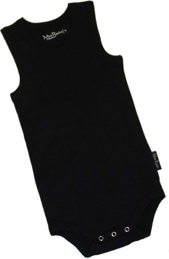 KinderBasicsRomper Unisex Hemdmodel-Zwart-74