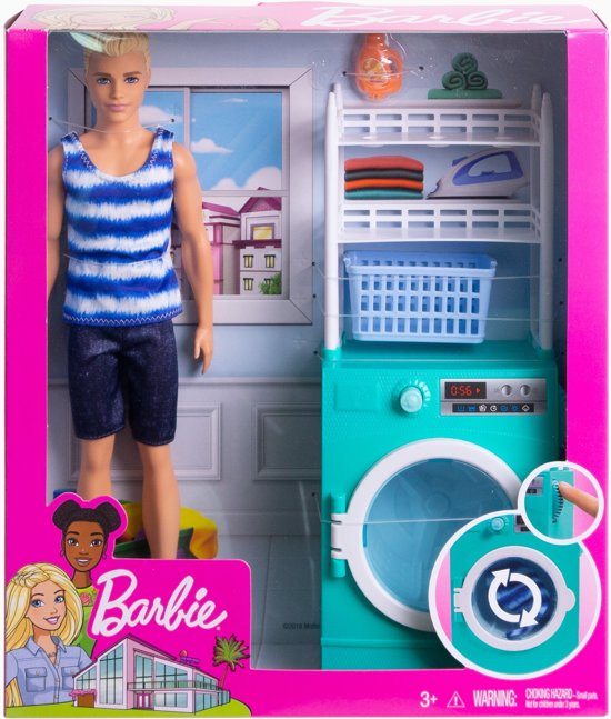 Barbie Ken Doet De Was - Barbiepop