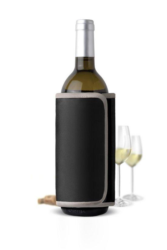 AdHoc Wijn Quick Cool WijnKoeler - Polyester - 35,5 x 17cm - Zwart
