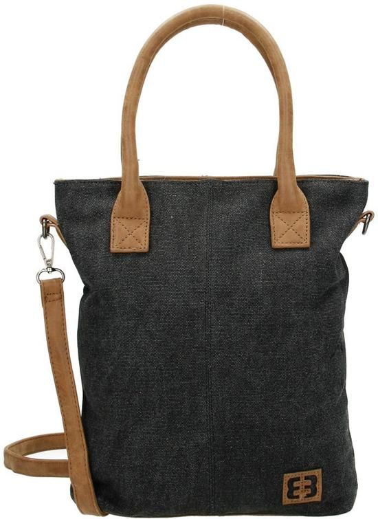 a0d9bb5d22d bol.com | Vlotte - Canvas - Handtas Shopper - Enrico Benetti - Zwart