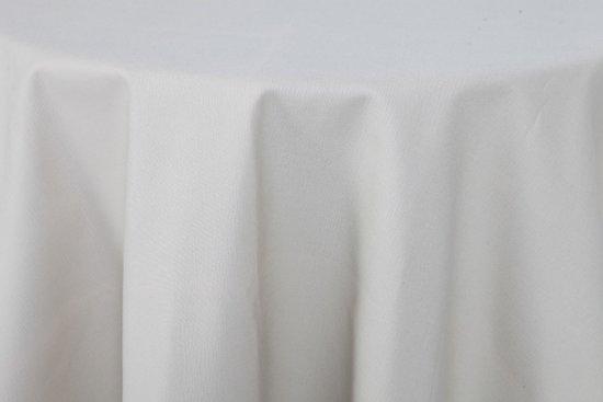 Damast Tafelkleed Rond Wit 200cm De Witte Lietaer