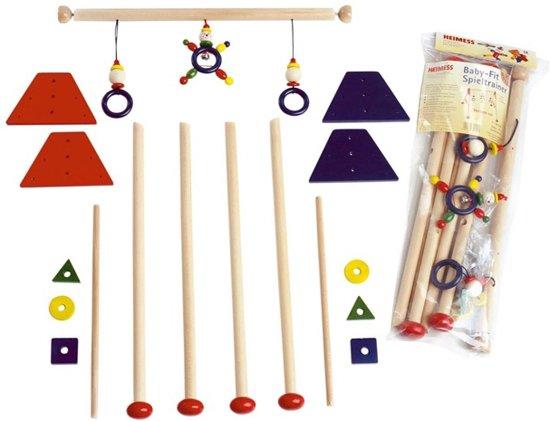 Afbeelding van Heimess Babygym hout rood niet gemonteerd speelgoed