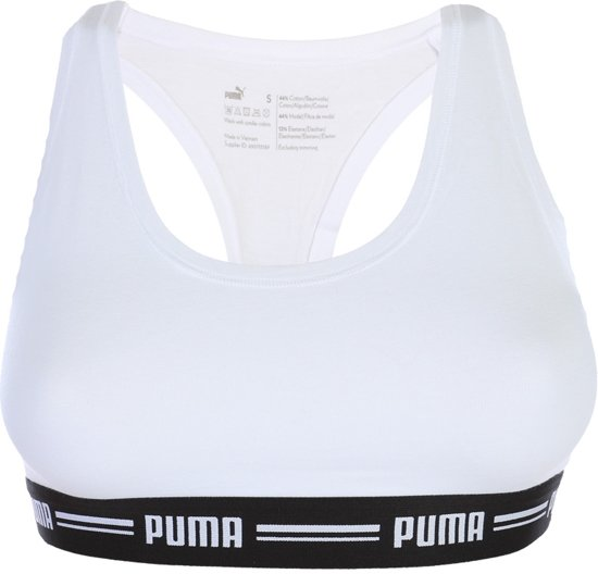 Puma- Iconic Racerback Bra Wit - S