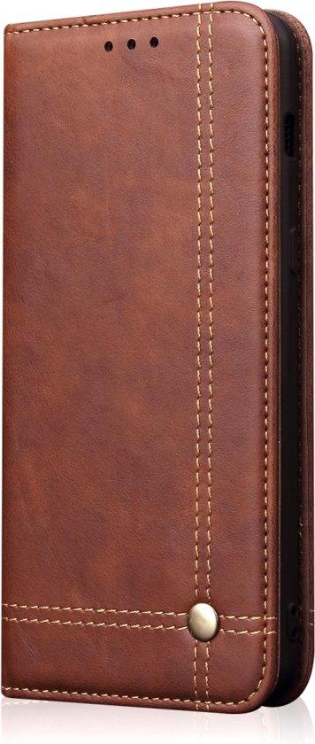 Mobigear Casual Retro Wallet Book Case Koffie Xiaomi Mi 8 Lite