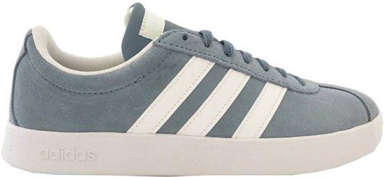 Adidas - Vl Court 2.0 - Sneaker laag sportief - Dames - Maat 39 1/3 - Blauw;Blauwe - Raw Grey S18