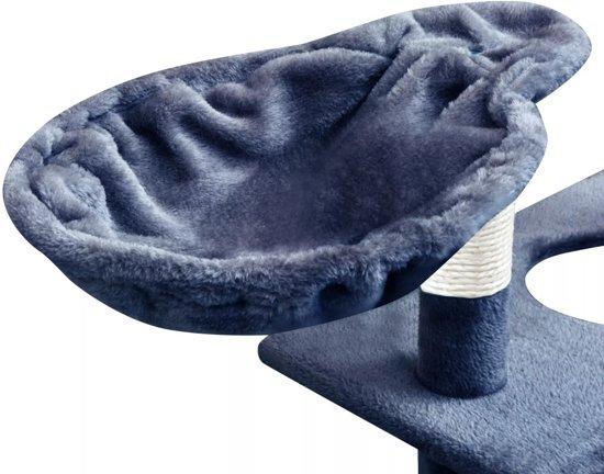 vidaXL Kattenkrabpaal met sisal krabpalen 150 cm donkerblauw