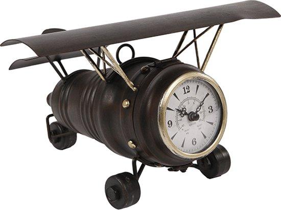 Tafelklok Vliegtuig - 28x25,5xH16,5 cm