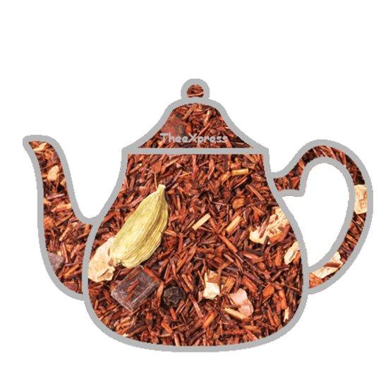 Rooibos choco hot tea, rooibos thee, 100 gram losse thee