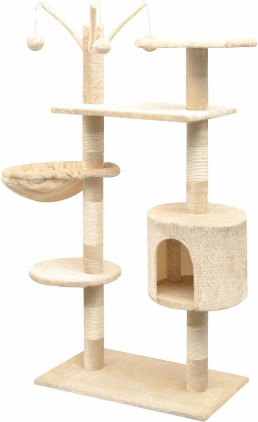 Kattenkrabpaal met sisal krabpalen 125 cm beige
