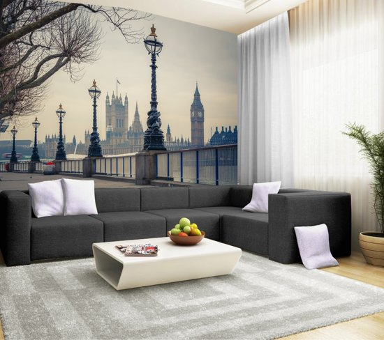 Papermoon Big Ben Londen Vlies Fotobehang 250x180cm