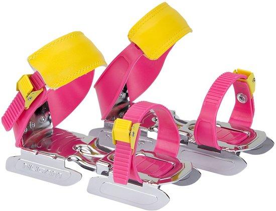 Nijdam Junior Glij Ijzers - Maat One size - Unisex - roze/geel