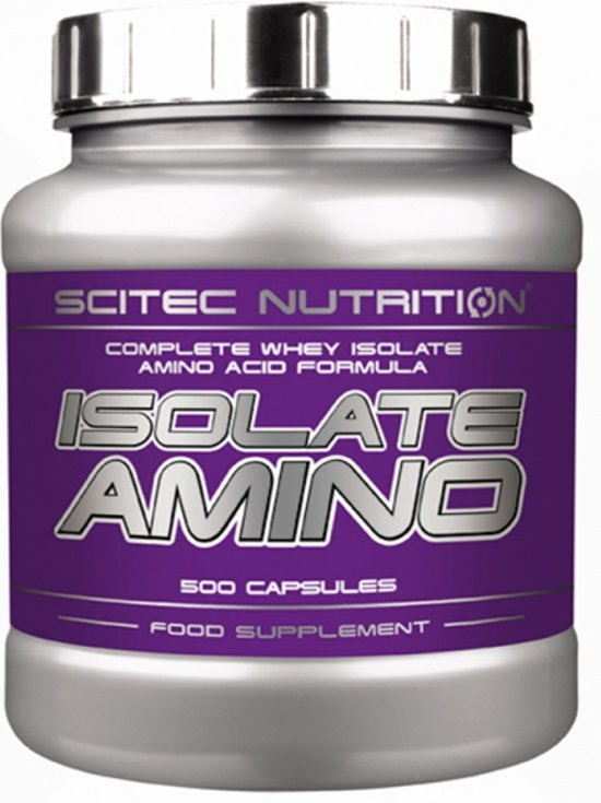 Scitec Nutrtion - Isolate Amino - Complete whey isolate amino acid formula - 500 caps - 125 porties