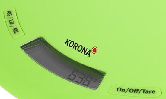 Korona 70222 Ronda - Keukenweegschaal - Groen