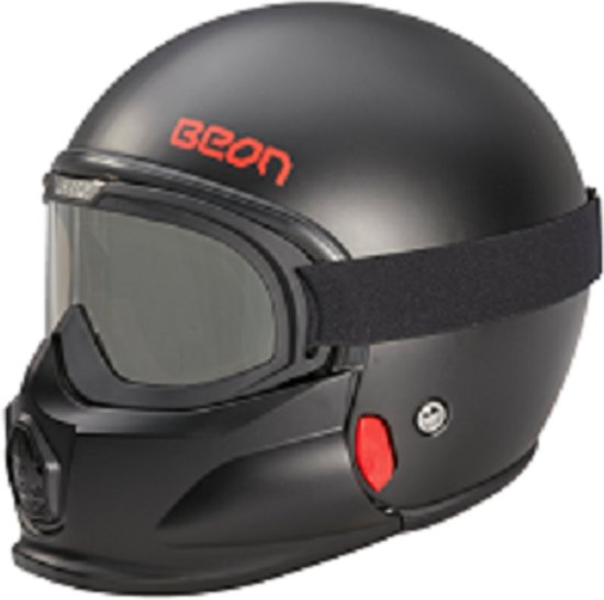 Beon Xtreme Fashionhelm met Goggle - Jethelm - Scooterhelm - Motorhelm - XL