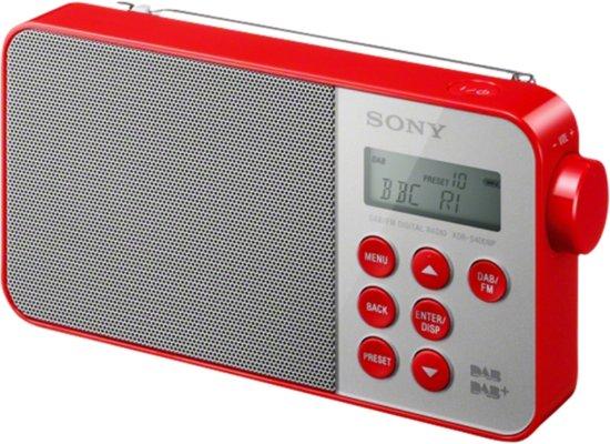 Sony draagbare DAB + radio, rood