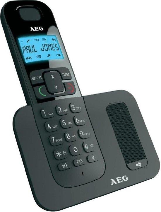 AEG Voxtel D500 | Single DECT telefoon | Enkele handpost | Zwart